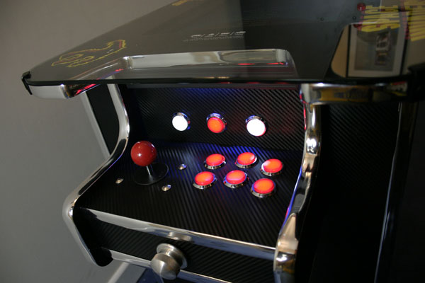 carbon fibre arcade table 6 buttons