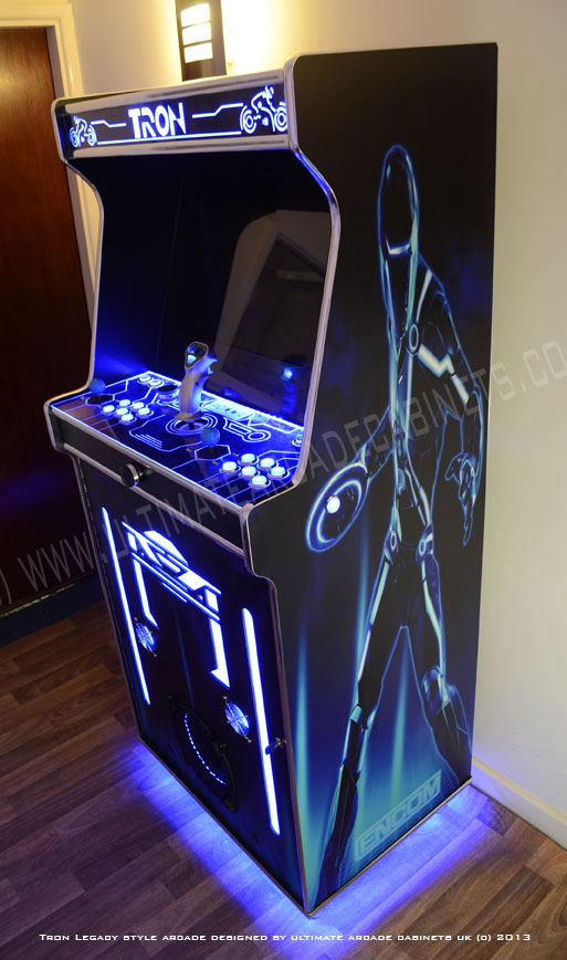 finished tron arcade cabinet